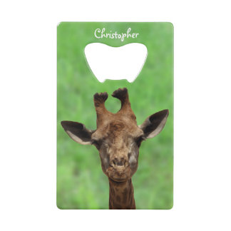 Young Giraffe Bottle Opener Wallet Bottle Opener