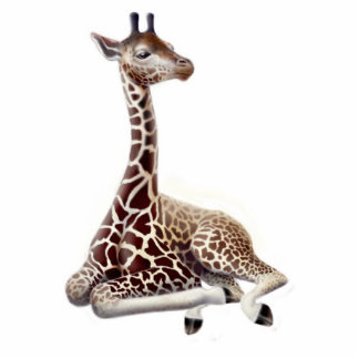 Young Giraffe Holiday Ornament Photo Sculpture