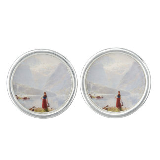 Young Girl Beside the Fjord Cufflinks