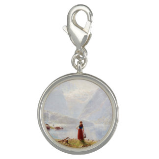 Young Girl Beside the Fjord Photo Charms