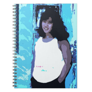 Young Girl by Old Blue Door Notebooks
