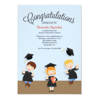 Young Girl Graduate Graduation Invitation