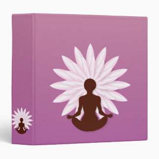 Young girl practicing yoga binder