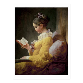 Young Girl Reading, c.1776 Postcard