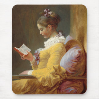 Young Girl Reading Mouse Pad
