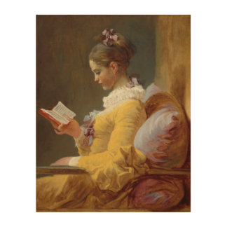 Young Girl Reading Wood Prints
