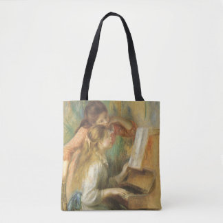 Young Girls at Piano by Pierre Renoir Tote Bag