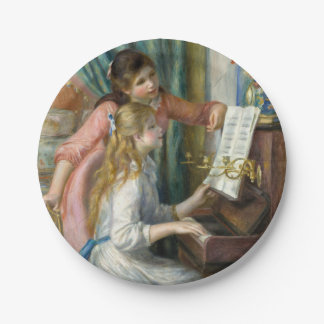 Young Girls at Piano - Pierre Renoir 7 Inch Paper Plate