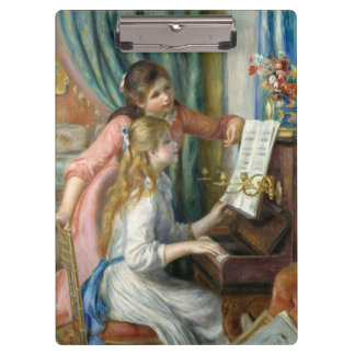 Young Girls at Piano - Pierre Renoir Clipboard