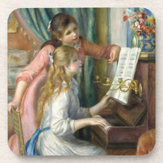 Young Girls at Piano - Pierre Renoir Coaster