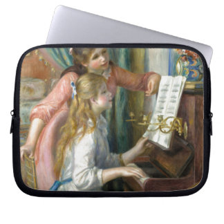 Young Girls at Piano - Pierre Renoir Laptop Sleeve