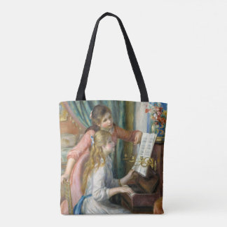 Young Girls at Piano - Pierre Renoir Tote Bag
