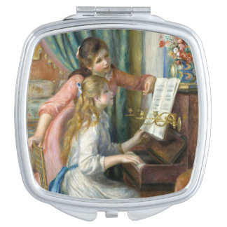 Young Girls at Piano - Pierre Renoir Vanity Mirrors