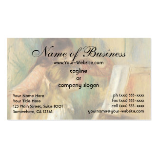 Young Girls at the Piano by Pierre Auguste Renoir Business Card
