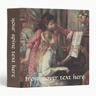 Young Girls at the Piano by Pierre Renoir 3 Ring Binders