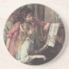 Young Girls at the Piano by Pierre Renoir Coaster