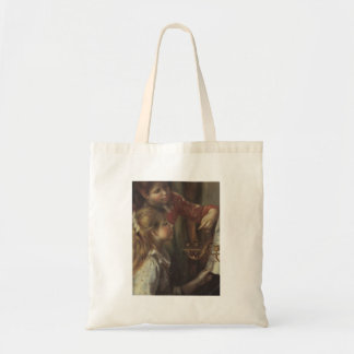 Young girls at the piano (Detail) by Pierre Renoir Budget Tote Bag