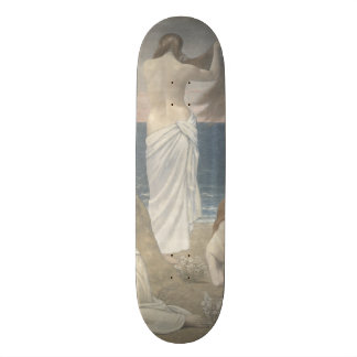 Young Girls by the Seaside by Puvis de Chavannes Skate Deck
