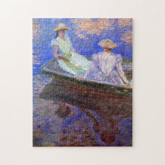 Young Girls in a Row Boat Monet Fine Art Jigsaw Puzzle