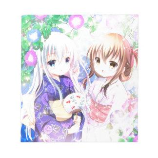 Young Girls In Yukata Notepad