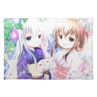 Young Girls In Yukata Placemat
