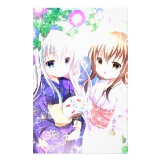 Young Girls In Yukata Stationery