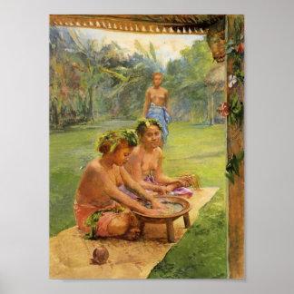 Young Girls Preparing Kava - John LaFarge Poster