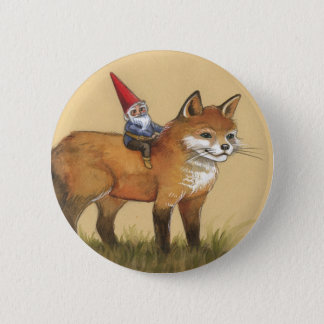 Young Gnome and Fox 2 Inch Round Button