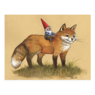 Young Gnome and Fox Postcard