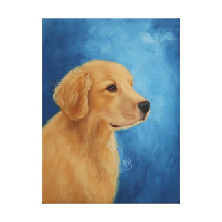 Young Golden Retriever Canvas Print