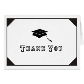 Young Grad Thank You Note Card