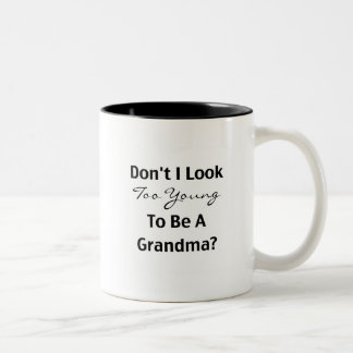 Young Grandma (customizable) Two-Tone Coffee Mug