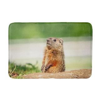 Young Groundhog Bathroom Mat
