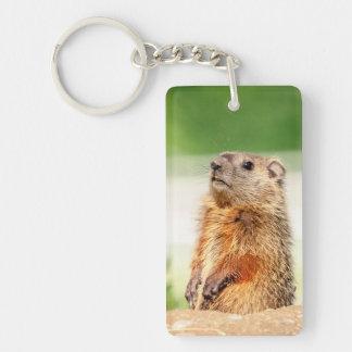 Young Groundhog Keychain
