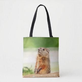 Young Groundhog Tote Bag