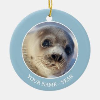 Young Harp Seal Ceramic Ornament