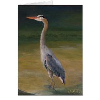 Young Heron Card
