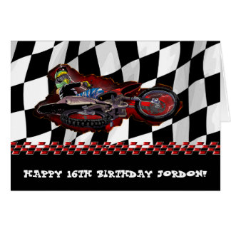 Young High flyer motocross birthday Card