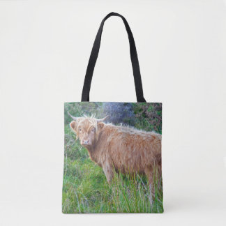 Young Highland Cow All Over Print Bag