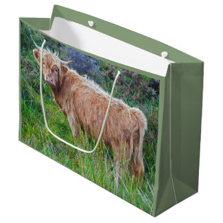 Young Highland Cow Gift Bag