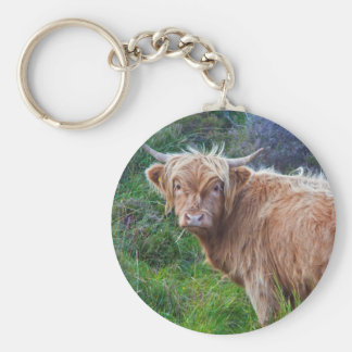 Young Highland Cow Keyring