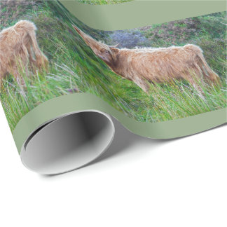 Young Highland Cow Wrapping Paper