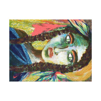 Young Indian Woman Canvas Print