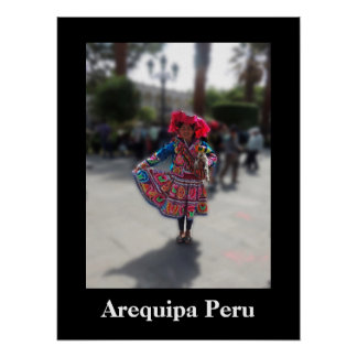 Young Inka Girl in Arequipa Peru Poster