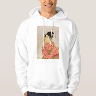 Young Lady Blowing on a Poppin. Hoodie