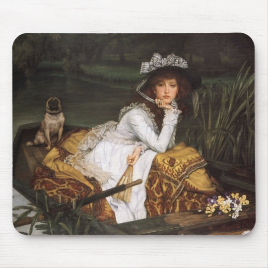 Young Lady In A Boat Mouse Pad