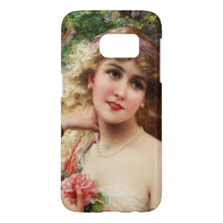 Young Lady With Roses by Emile Vernon Samsung Galaxy S7 Case