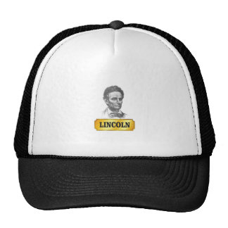 young lincoln trucker hat
