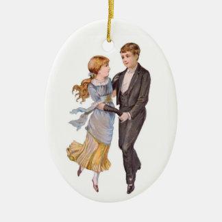 Young Love Ceramic Ornament