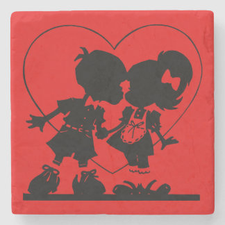 Young Love Coaster Stone Beverage Coaster